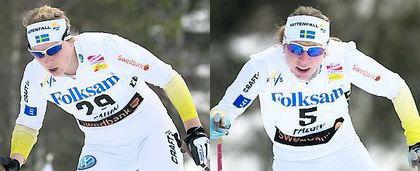 Hanna Brodin och Lisa Larsen i landslaget