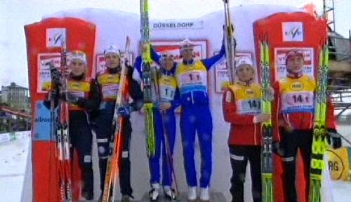 Ida Ingemarsdotter och Hanna Falk tvåa i WC-teamsprinten i Düsseldorf 2009-12-06